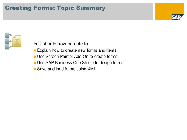 Creating Forms: