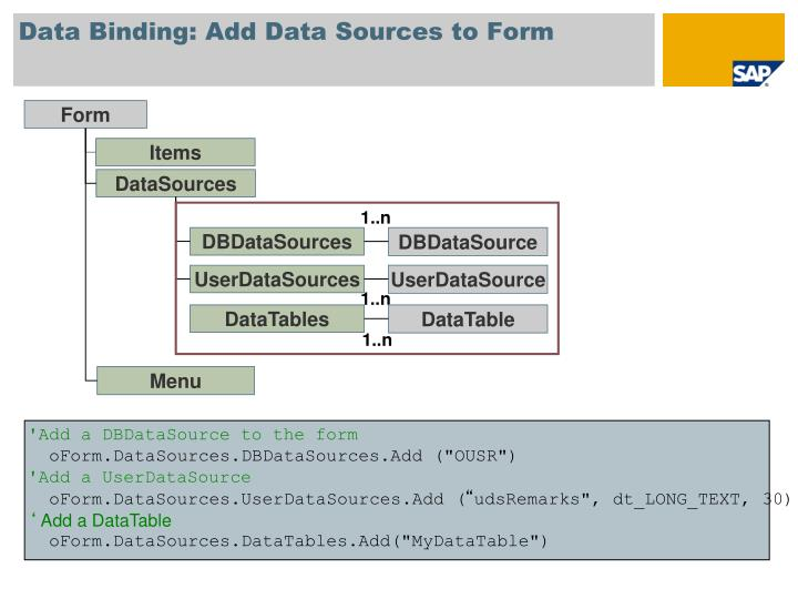 Data Binding: Add Data Sources to Form