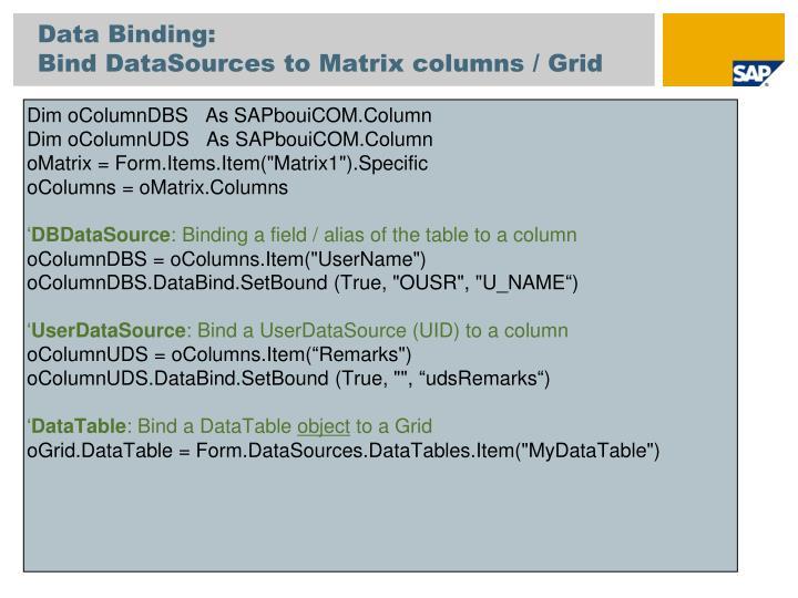 Data Binding: