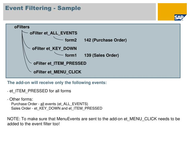 Event Filtering - Sample