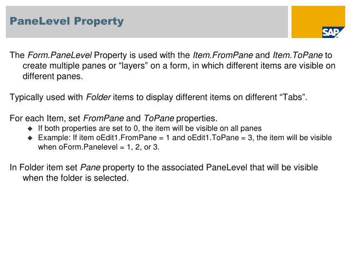 PaneLevel Property