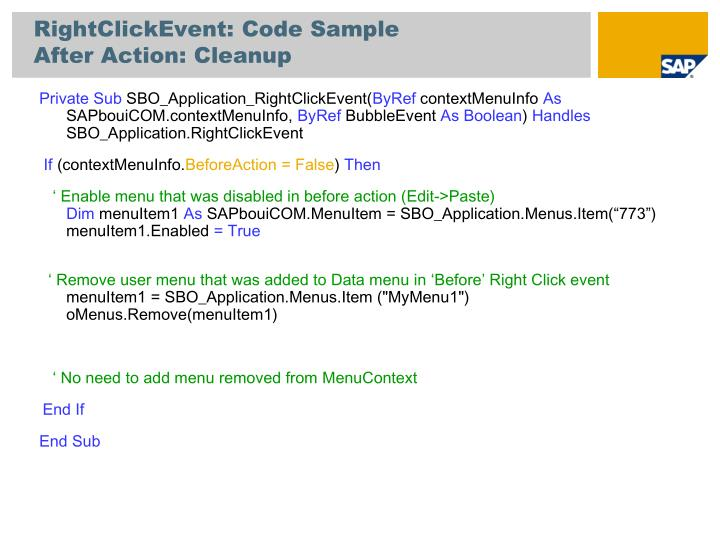RightClickEvent: Code Sample