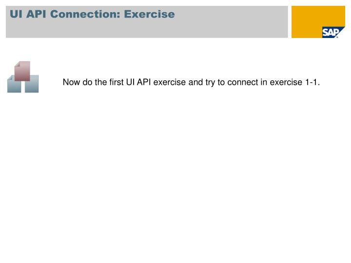 UI API Connection: Exercise