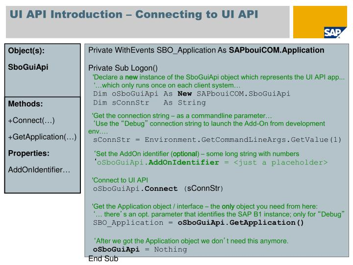 UI API Introduction – Connecting to UI API