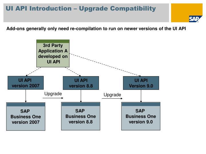 UI API Introduction – Upgrade Compatibility