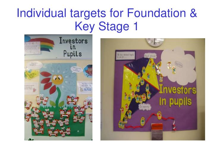 Individual targets for Foundation & Key Stage 1