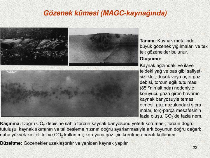 Gözenek kümesi (MAGC-kaynağında)