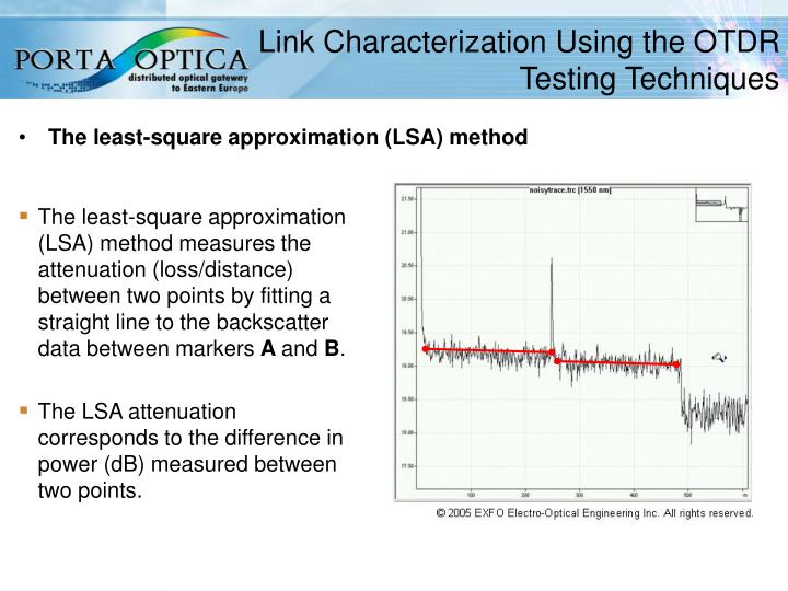 Link Characterization Using the