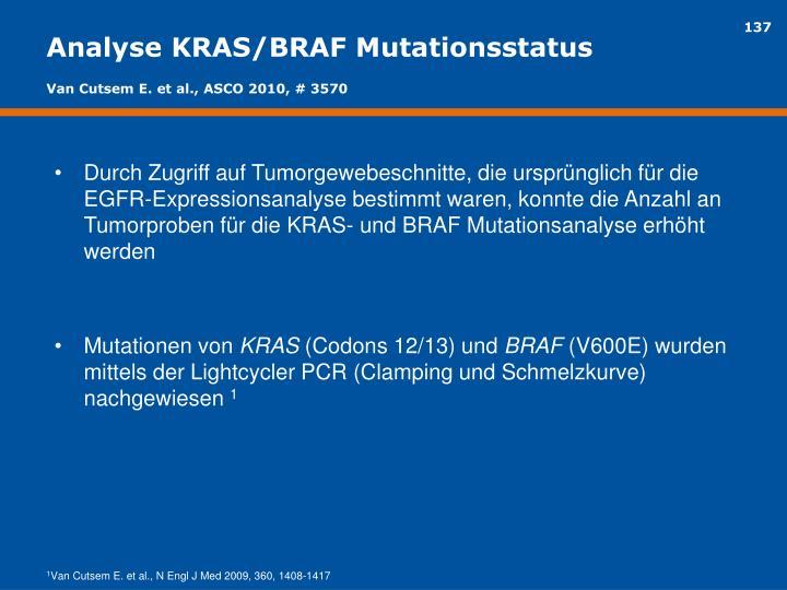 Analyse KRAS/BRAF Mutationsstatus