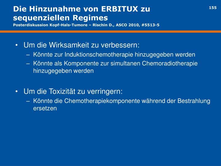 Die Hinzunahme von ERBITUX zu