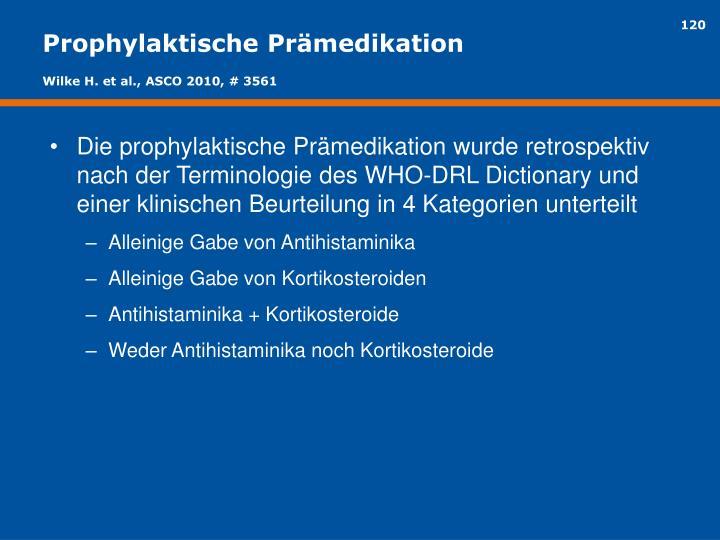 Prophylaktische Prämedikation