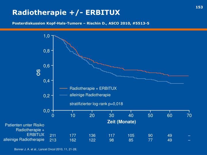 Radiotherapie +/- ERBITUX