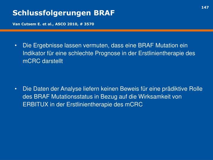 Schlussfolgerungen BRAF
