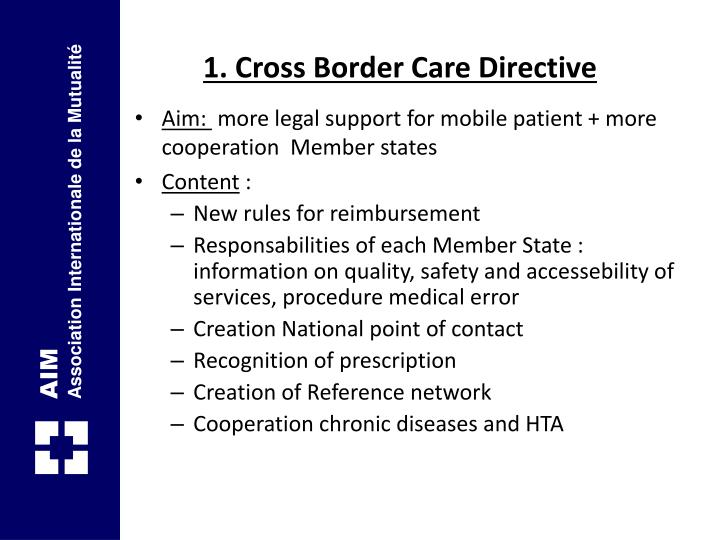 1. Cross Border Care Directive