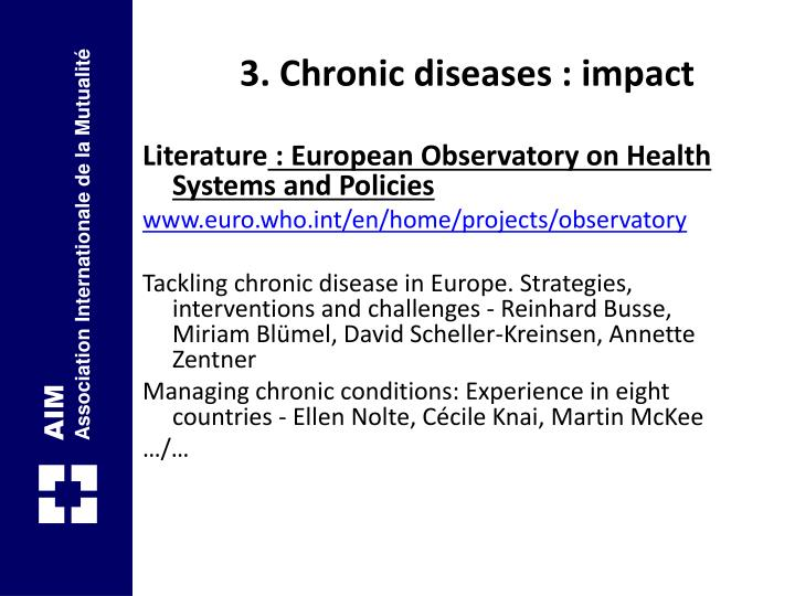 3. Chronic diseases : impact