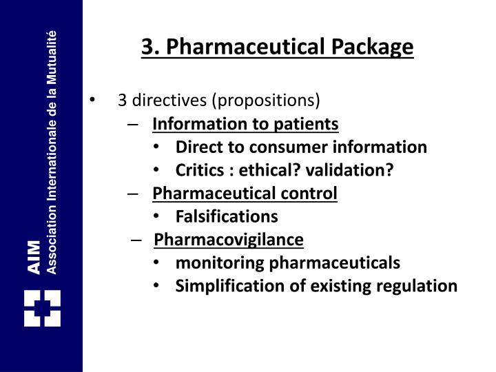 3. Pharmaceutical Package