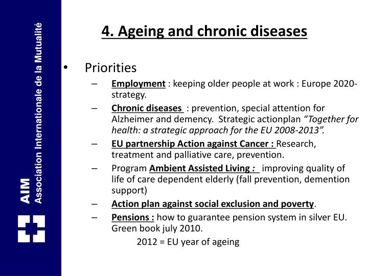 4. Ageing and chronic diseases