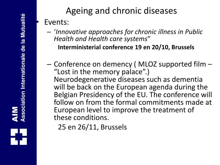 Ageing and chronic diseases