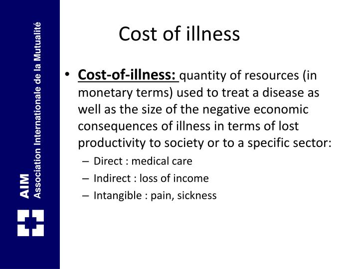 Cost of illness