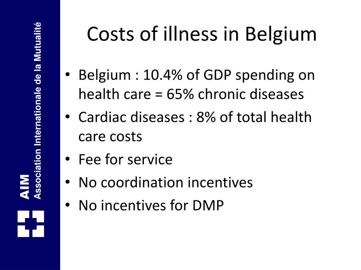 Costs of illness in Belgium