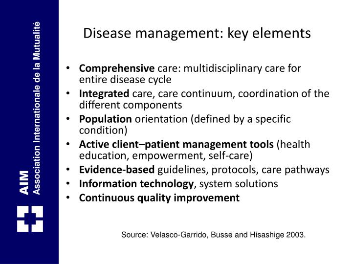 Disease management: key elements