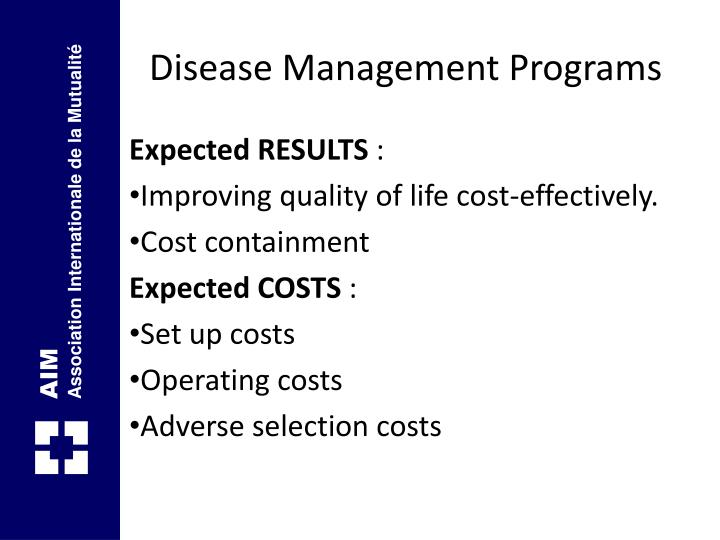 Disease Management Programs