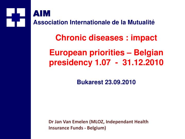 Dr jan van emelen mloz independant health insurance funds belgium