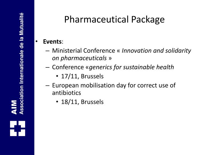 Pharmaceutical Package
