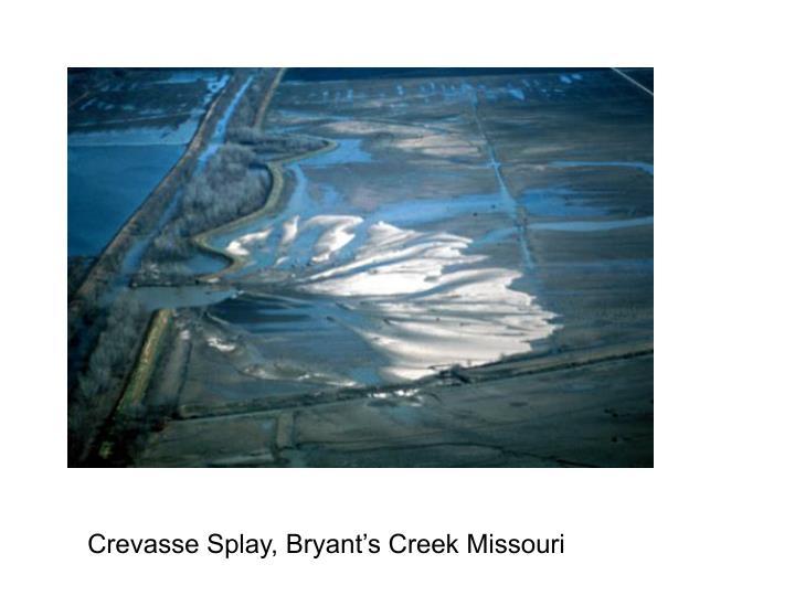 Crevasse Splay, Bryant's Creek Missouri