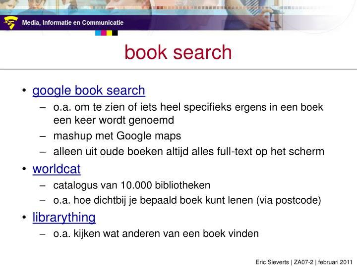 book search