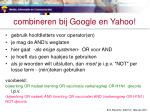 combineren bij google en yahoo