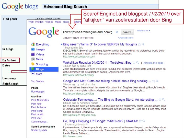 SearchEngineLand blogpost