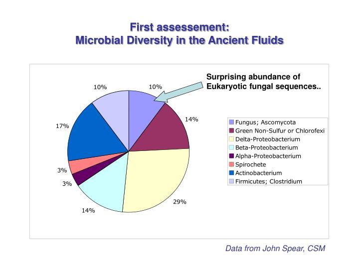 First assessement: