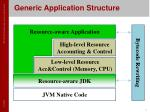 generic application structure