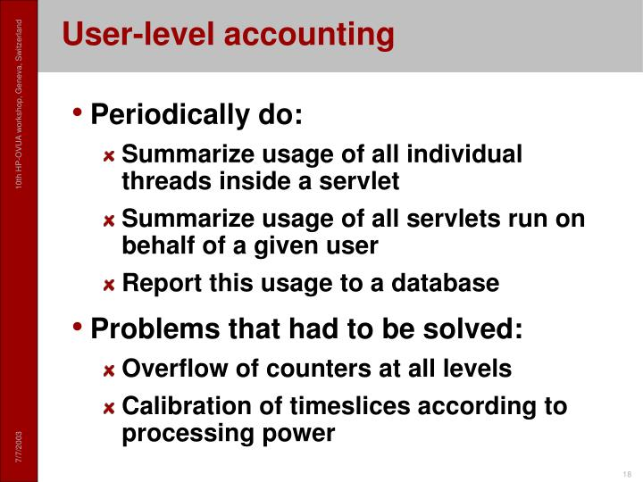 User-level accounting