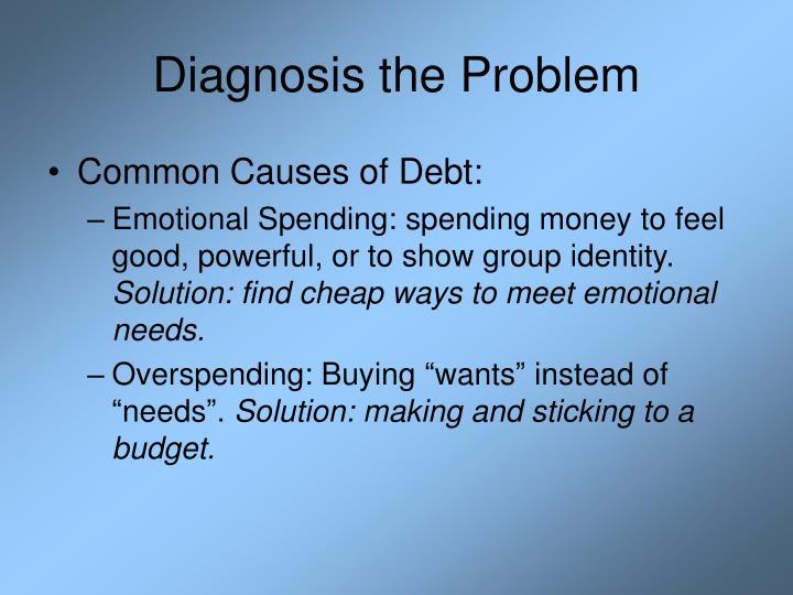Diagnosis the Problem