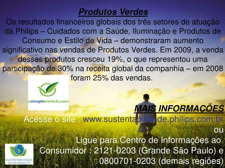 Produtos Verdes