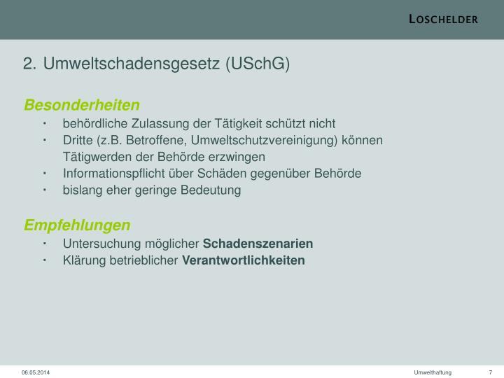 Umweltschadensgesetz (USchG)