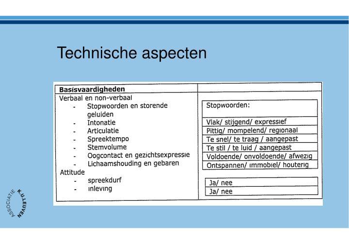 Technische aspecten