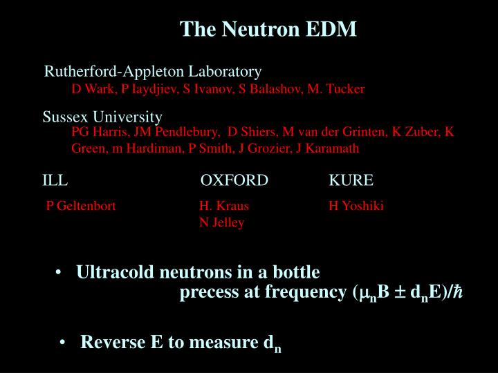 The Neutron EDM