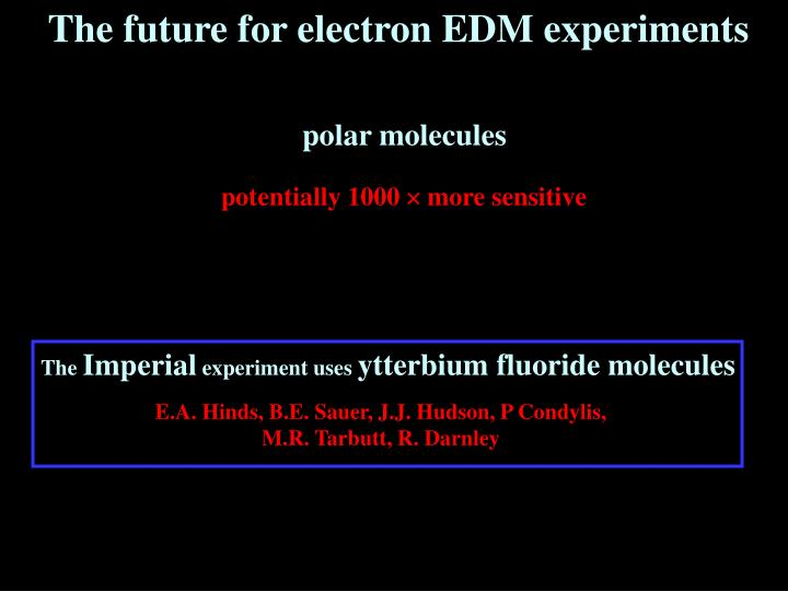 The future for electron EDM experiments