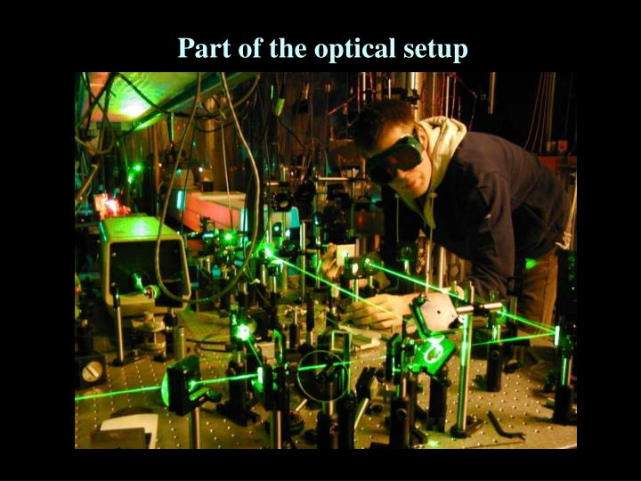 Part of the optical setup