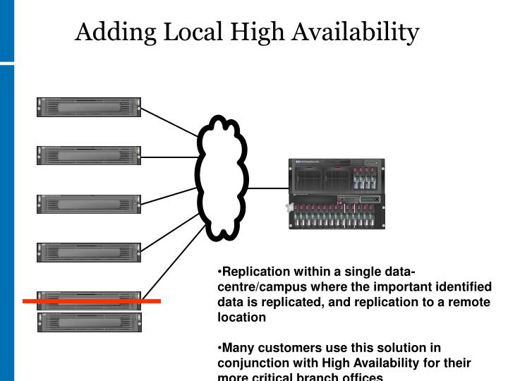 Adding Local High Availability