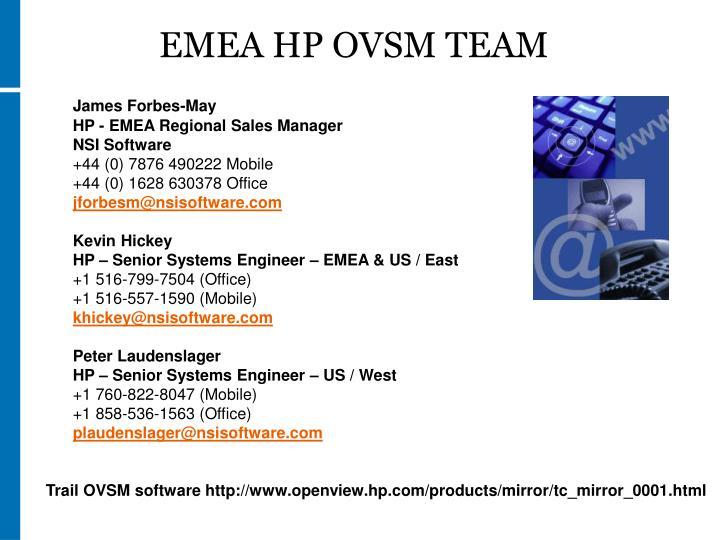 EMEA HP OVSM TEAM