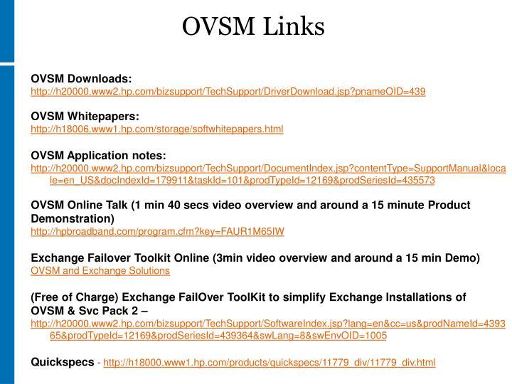 OVSM Links