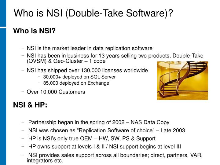 Who is NSI (Double-Take Software)?