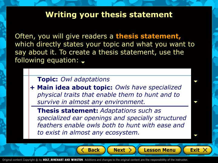 literature statement thesis Thesis statements for a literature assignment a thesis prepares the reader for what you are about to say as such, your paper needs to be interesting in order for.