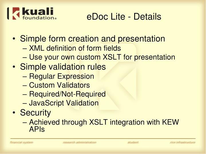 eDoc Lite - Details