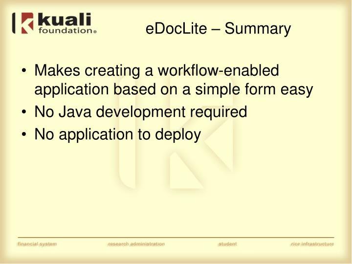 eDocLite – Summary