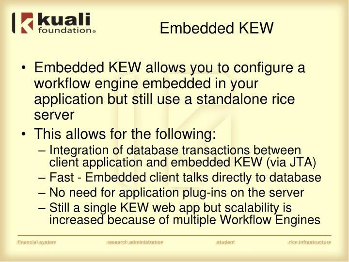 Embedded KEW